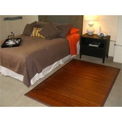 Bamboo Rug-Contemporary Chocolate-2'