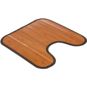 Bamboo Contour Bathroom Floor Mat